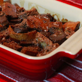 mexican hot chocolate bread pudding from www.alyssaandcarla.com