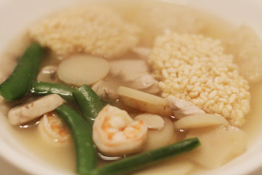 Carla S Soup Recipe Chinese Sizzling Rice Soup Alyssa And Carla