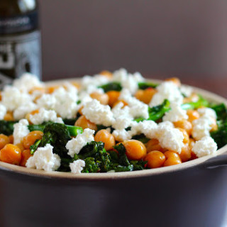 roasted broccolini with chickpeas and ricotta