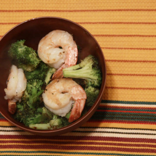 roasted broccoli with shrimp from www.alyssaandcarla.co