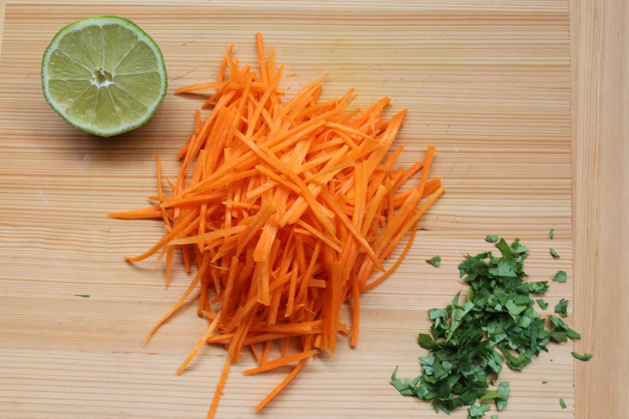 carrot and cilantro salad ingredients