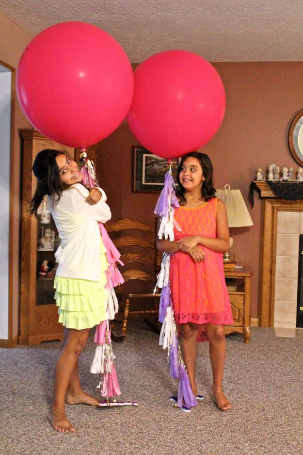 ang and lan with balloons