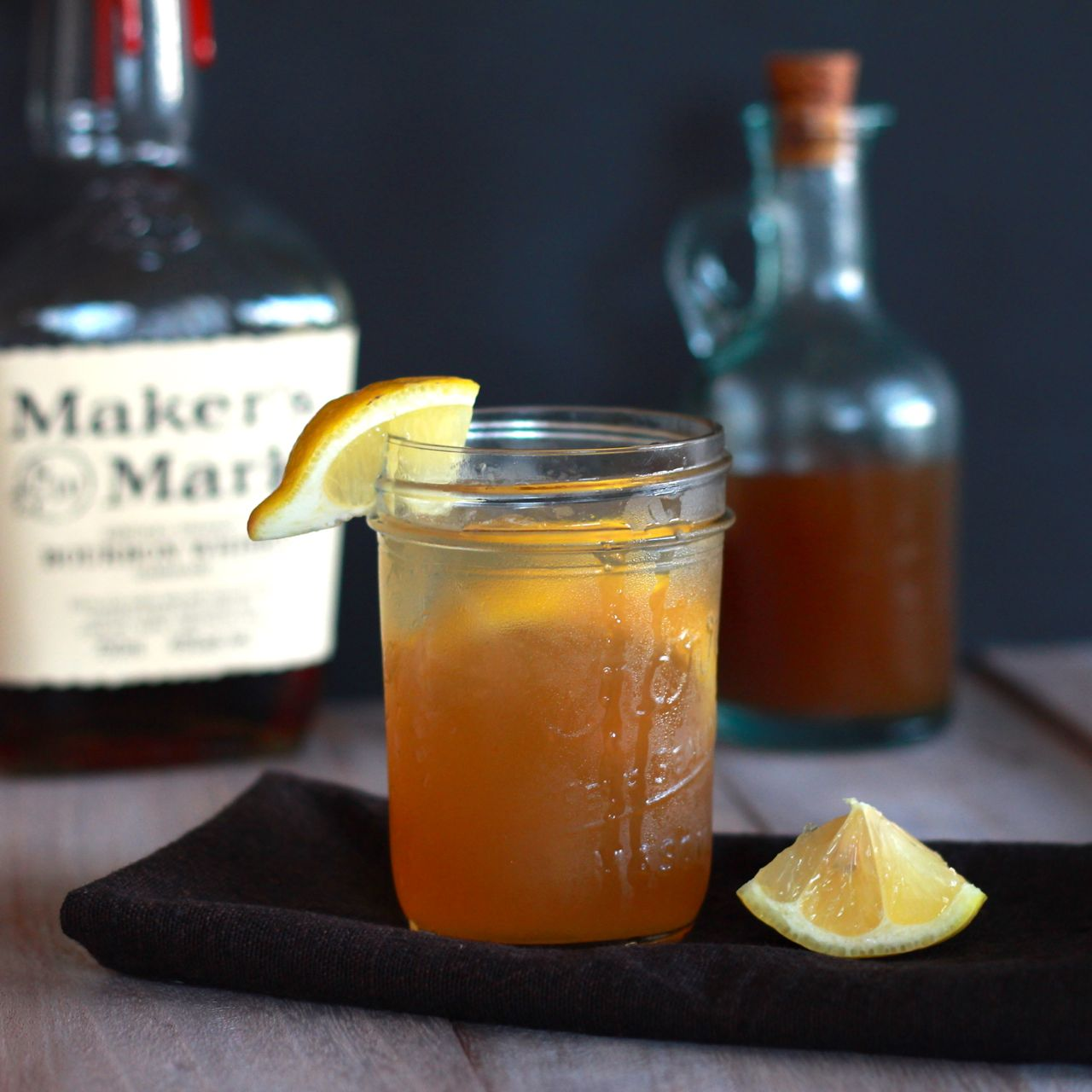 ginger syrup and bourbon cocktail