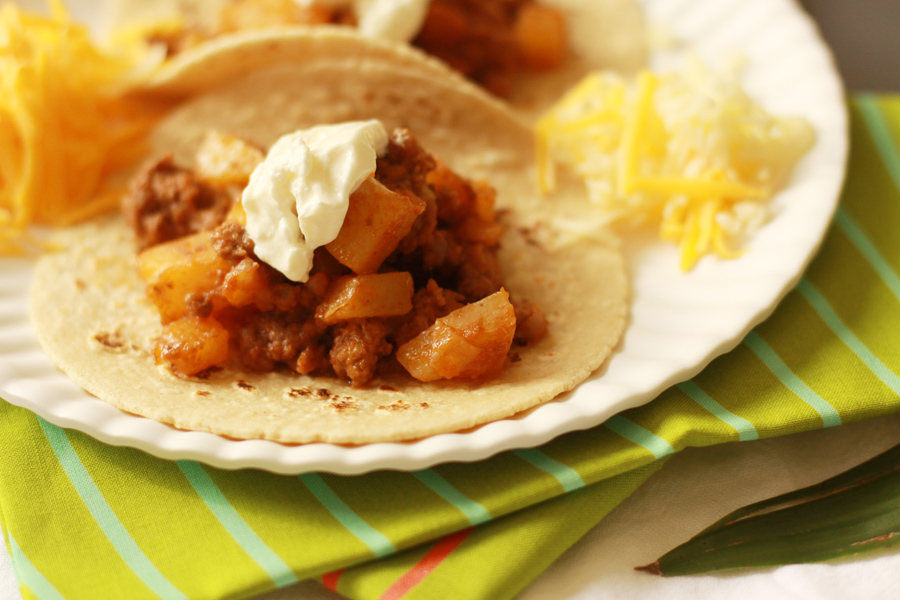 Beef and Potato Tacos (4)