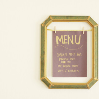 DIY Framed Party Menu | Alyssa & Carla