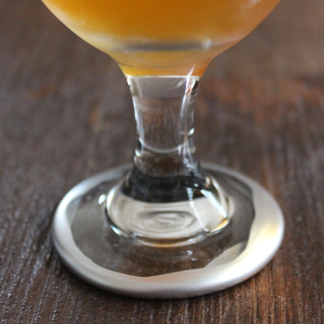 hand dipped beer glass