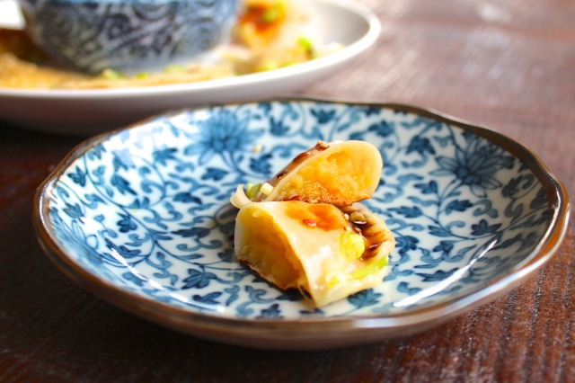 sweet potato and miso dumplings