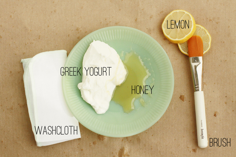 DIY Greek Yogurt Mask from www.alyssaandcarla.com