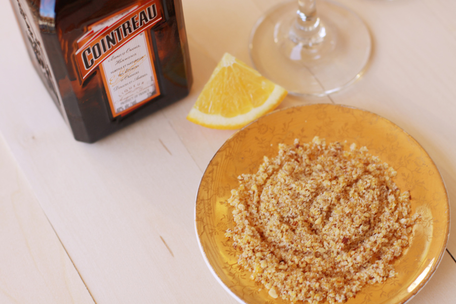 Orange and Almond Sparkling Cocktail from www.alyssaandcarla.com