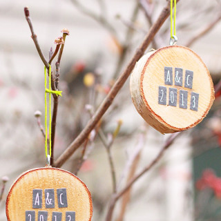DIY Birch Round Ornaments by alyssaandcarla.com