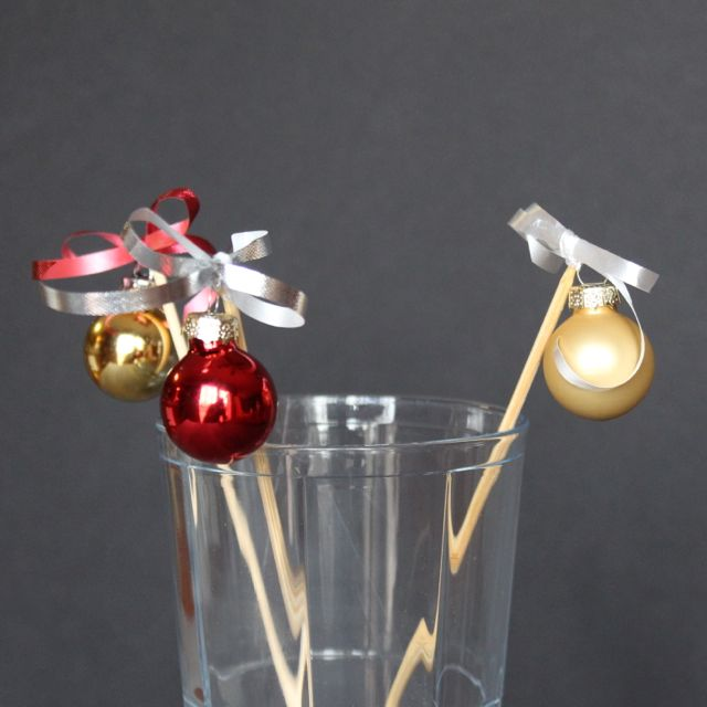 ornament swizzle sticks from www.alyssaandcarla.com
