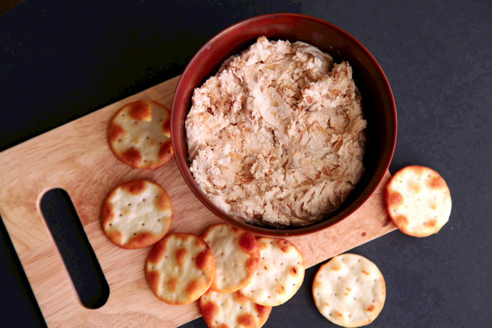 Caramelized Onion and Goat Cheese Dip by alyssaandcarla.com