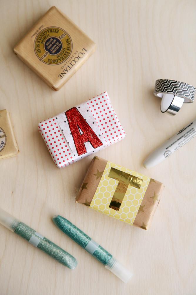DIY Anthropologie Monogram Soap from alyssaandcarla.com