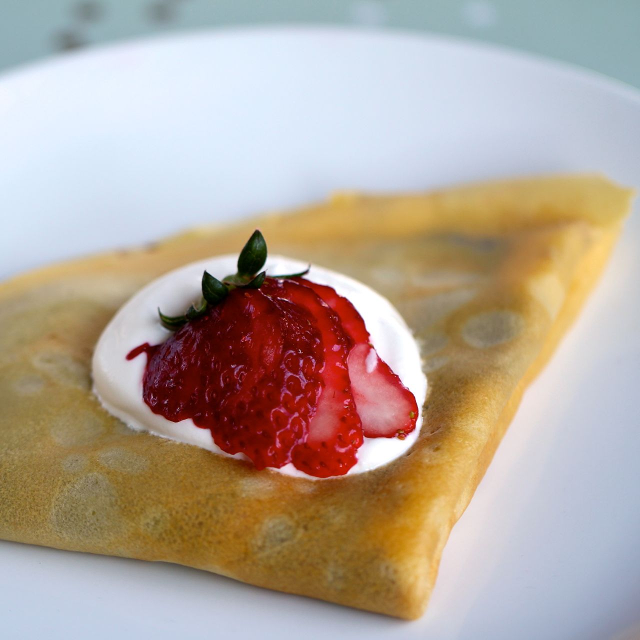 Nutella & Strawberry Crepes from www.alyssaandcarla.com