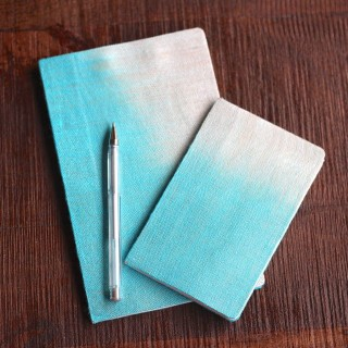 fabric covered notebooks from www.alyssaandcarla.com