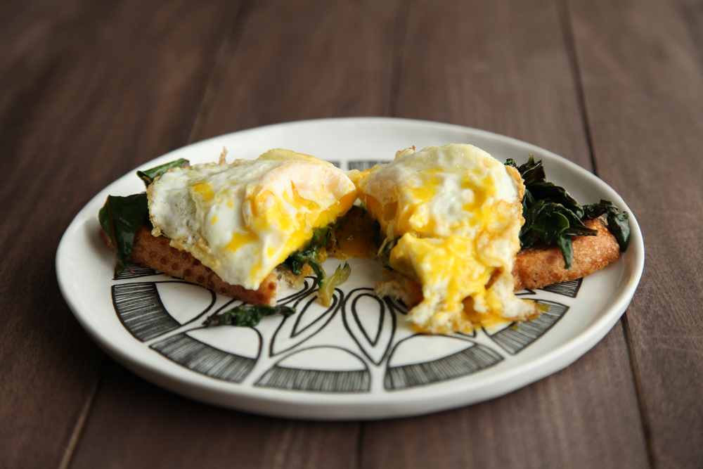 Chard and Fried Egg Toast from alyssaandcarla.com