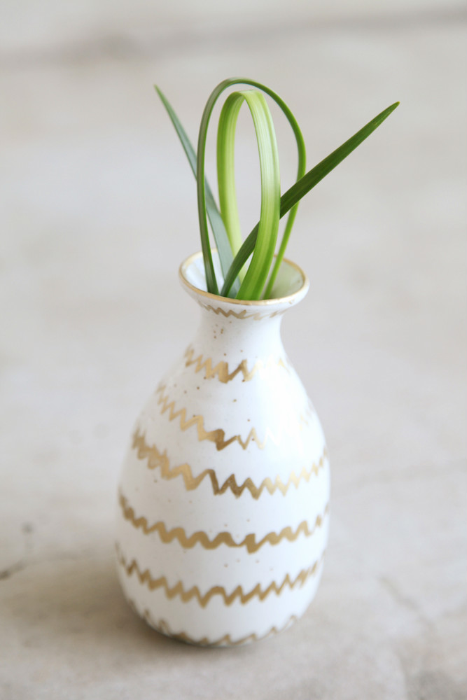 Metallic Decorated Bud Vase from alyssaandcarla.com