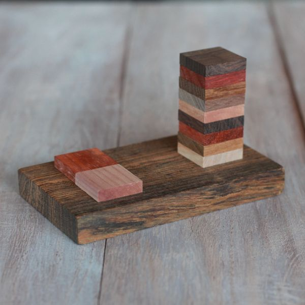 make your own wooden cell phone stand from www.alyssaandcarla.com