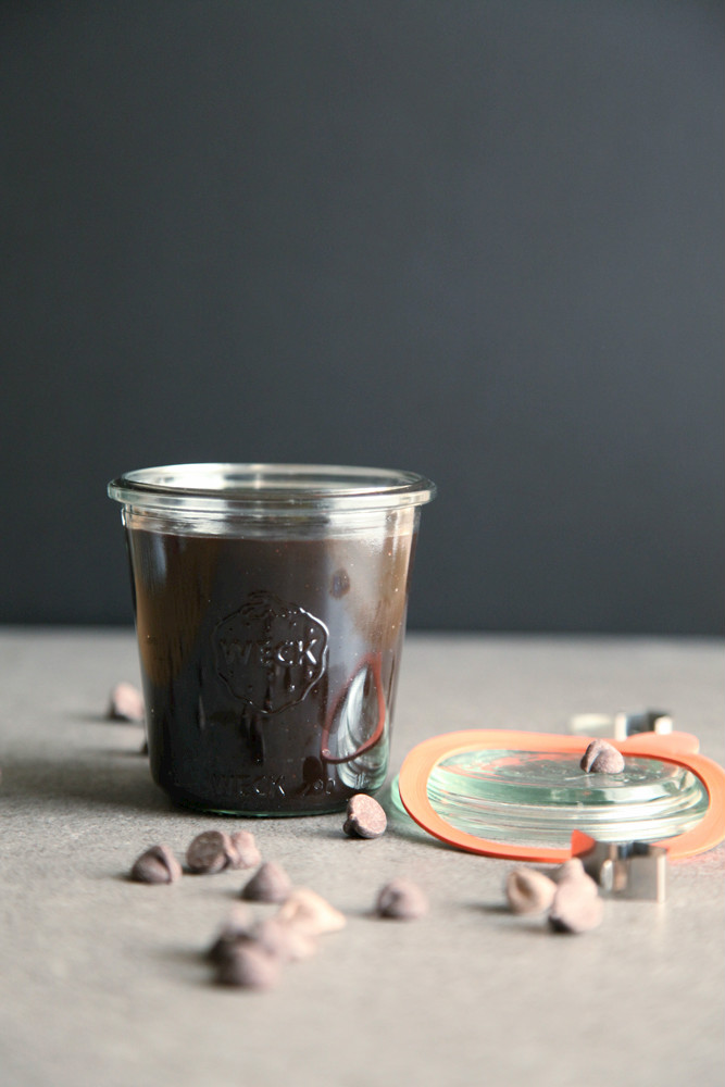 Semi-Sweet Chocolate Chip Hot Fudge Sauce from alyssaandcarla.com