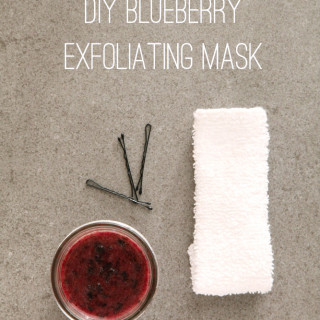DIY Blueberry Exfoliating Mask from alyssaandcarla.com