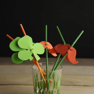 DIY St Patrick's Day Party Straws