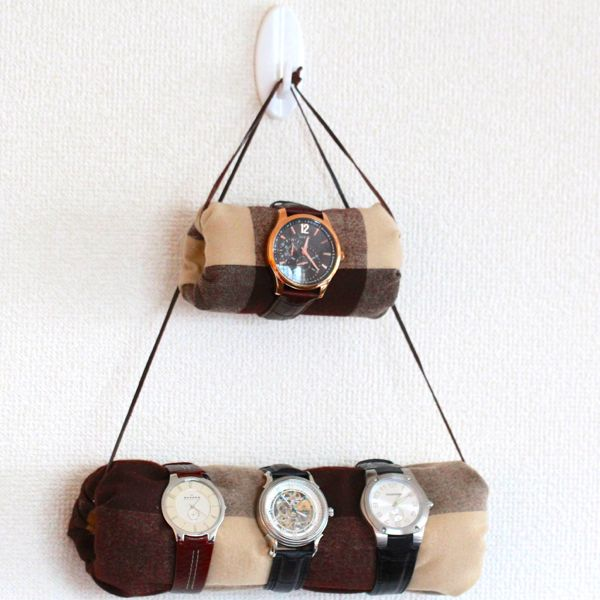 diy hanging watch holder at www.alyssaandcarla.com