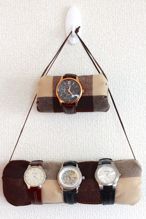 diy hanging watch holder from www.alyssaandcarla.com