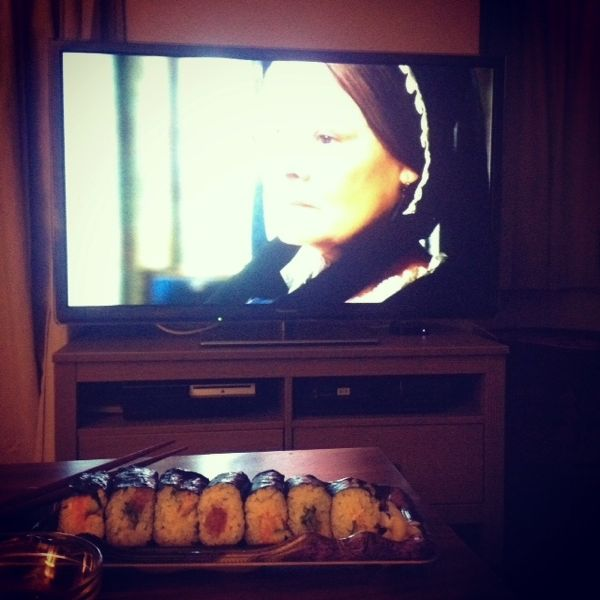 sushi and a movie