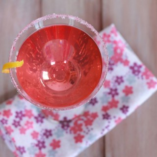 cherry blossom cocktail at www.alyssaandcarla.com