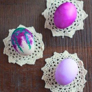 purple watercolor easter eggs from www.alyssaandcarla.com
