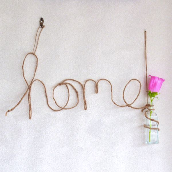 home wire wall hanging from www.alyssaandcarla.com