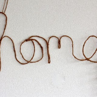 home wrapped wire wall hanging from www.alyssaandcarla.com