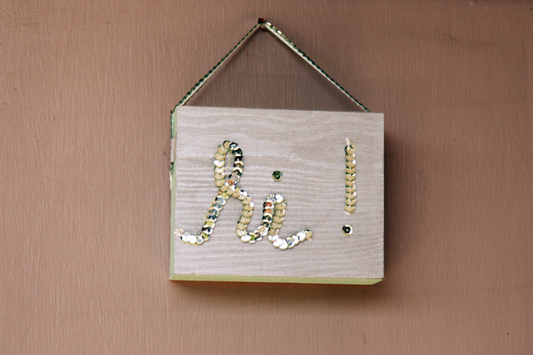 DIY Wooden Door Sign - Alyssa and Carla