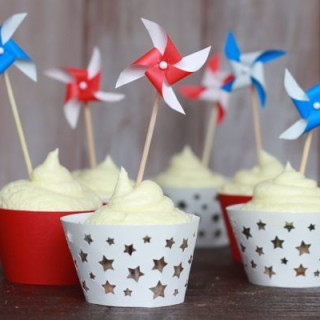 DIY Mini Pinwheel Cupcake Toppers, Cake Toppers or Swizzle Sticks