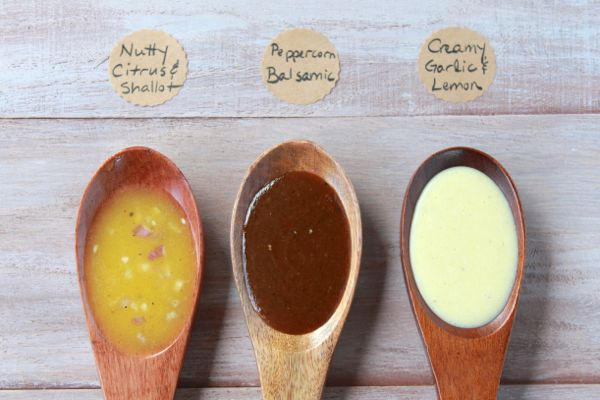 three summer salad dressings from www.alyssaandcarla.com