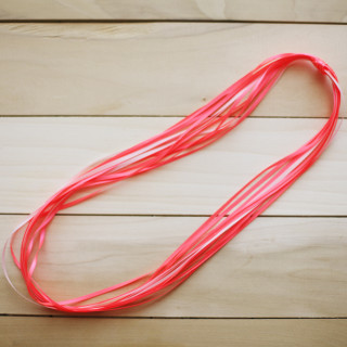 DIY Neon Ribbon Necklace from www.alyssaandcarla.com