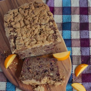 Persimmon and Chestnut Bread with Cinnamon Crunch Topping