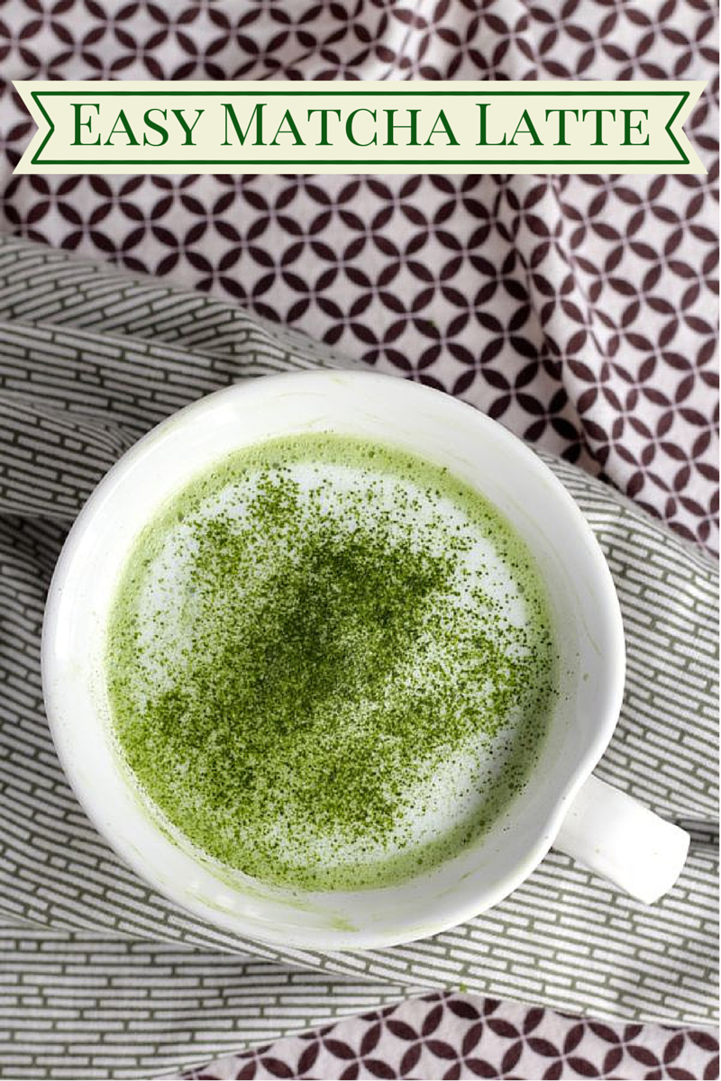Easy Matcha Latte using a mason jar to froth the milk