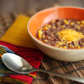 Spicy Black Bean and Corn Soup 001
