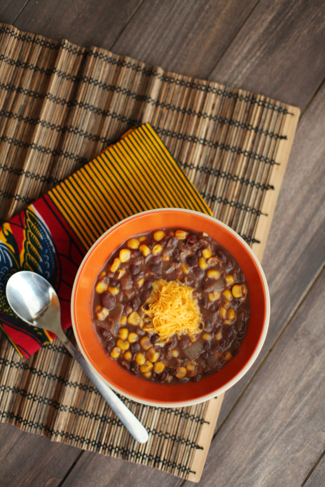 Spicy Black Bean and Corn Soup 002