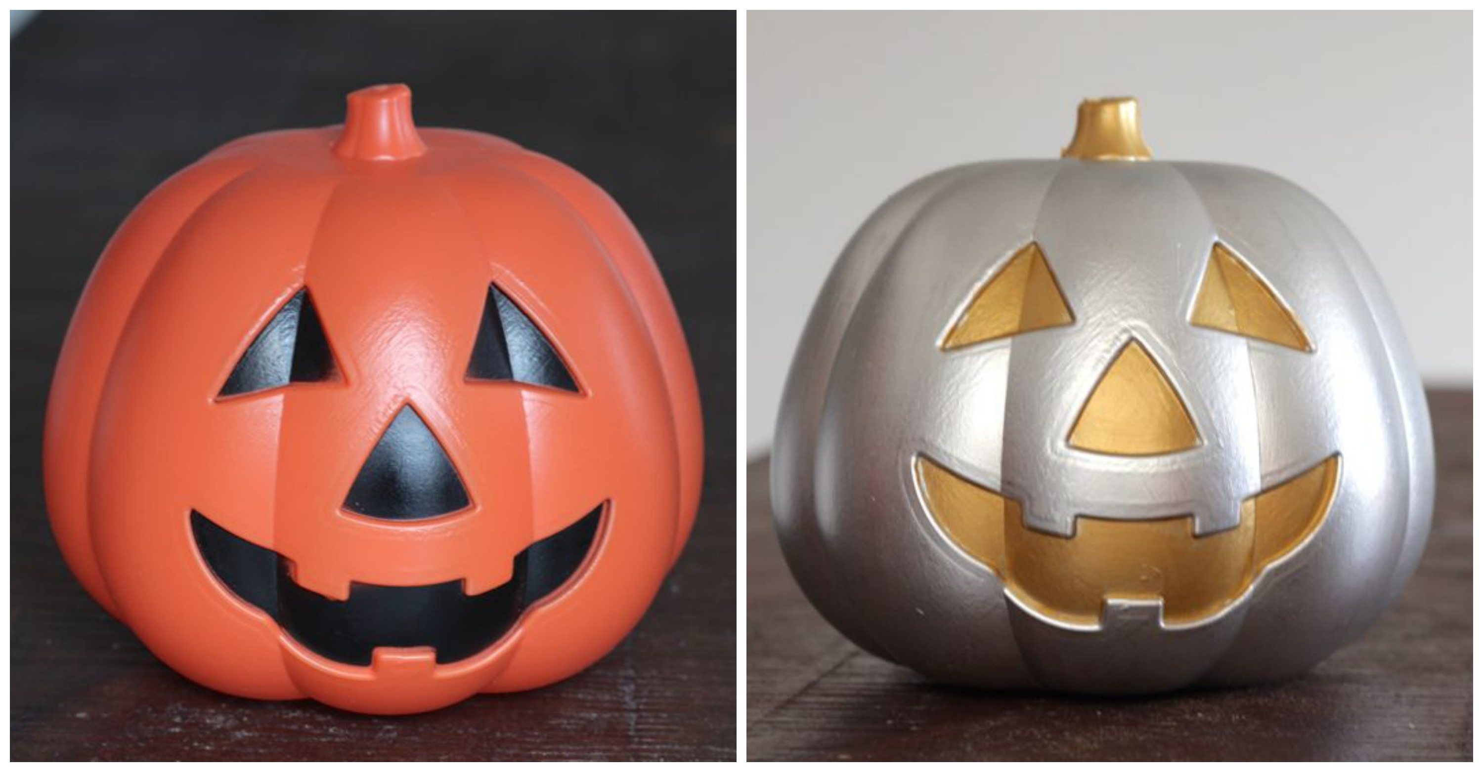 dollar store pumpkin makeover at www.alyssaandcarla.com