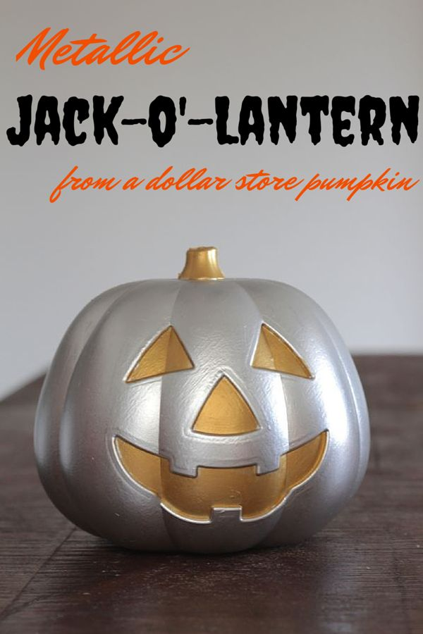 Metallic Jack O Lantern From Alyssaandcarla