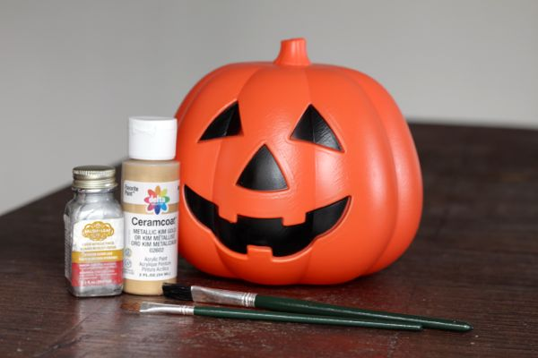 metallic jack o lantern supplies