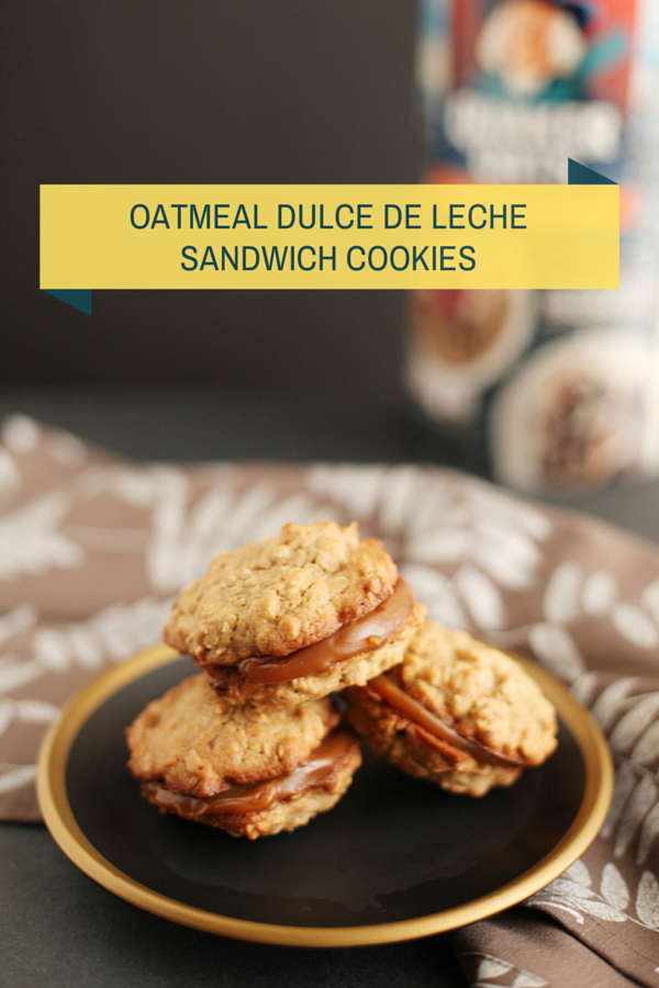 Oatmeal Dulce de Leche Sandwich Cookies - Alyssa and Carla