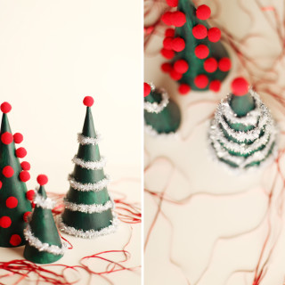 DIY Modern Christmas Tree Decorations
