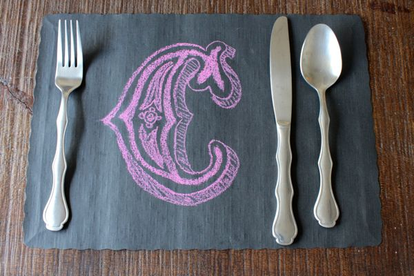 C placemat from alyssaandcarla.com