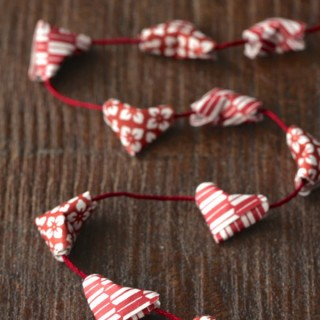 DIY Origami Heart Garland