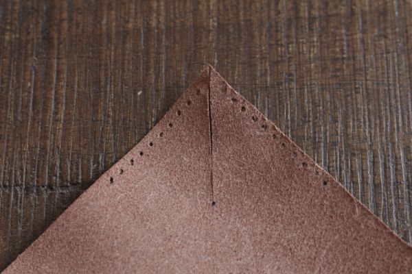 diy leather catchall step 5