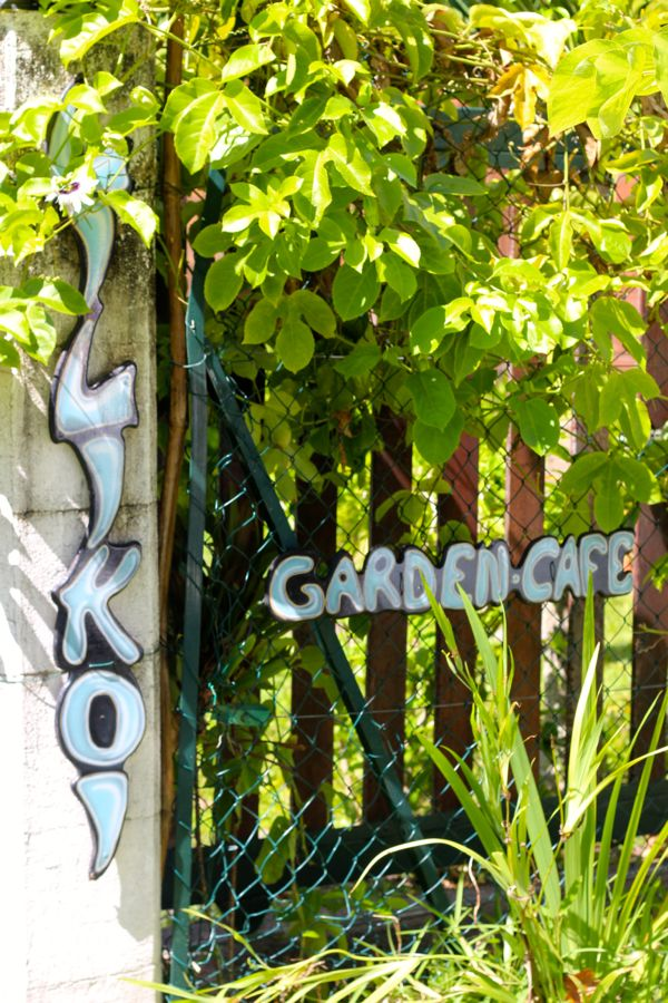 lilikoi garden cafe sign