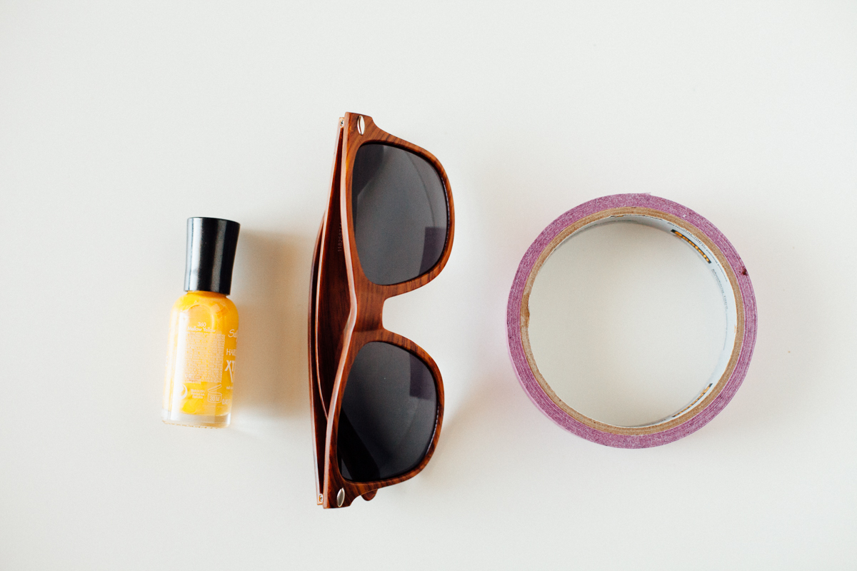 DIY Bright Sunglasses | Alyssa & Carla